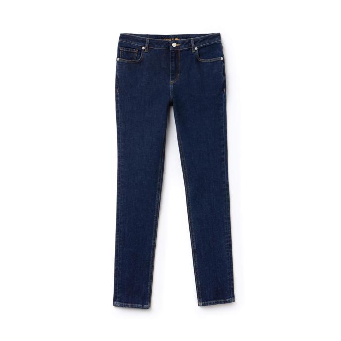 Lacoste Kadın Streç Pamuklu Mavi Denim Pantolon