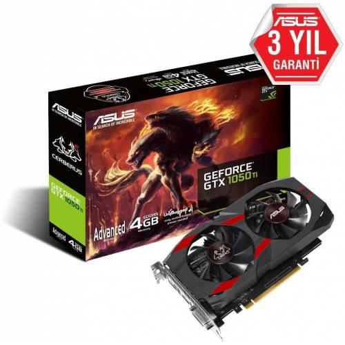 Asus Cerberus GTX1050 Ti Advanced 4GB GDDR5 128Bit DX12 Nvidia Geforce Ekran Kartı