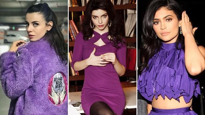 Onlara Mor Çok Yakışıyor! İşte Mor Renk Kıyafetleriyle Güzelliklerine Güzellik Katan Ünlü Kadınlar
