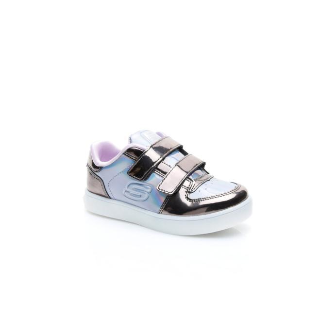 Skechers Energy Lıghts-Lıl'Metallıcs Çocuk Gri Işıklı Spor Ayakkabı