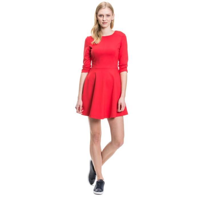 Nautica Kadın Kırmızı Regular Fit Elbise