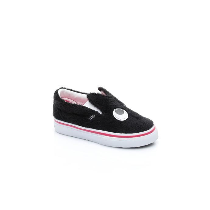 Tavşan kulaklı sevimli siyah spor ayakkabı
