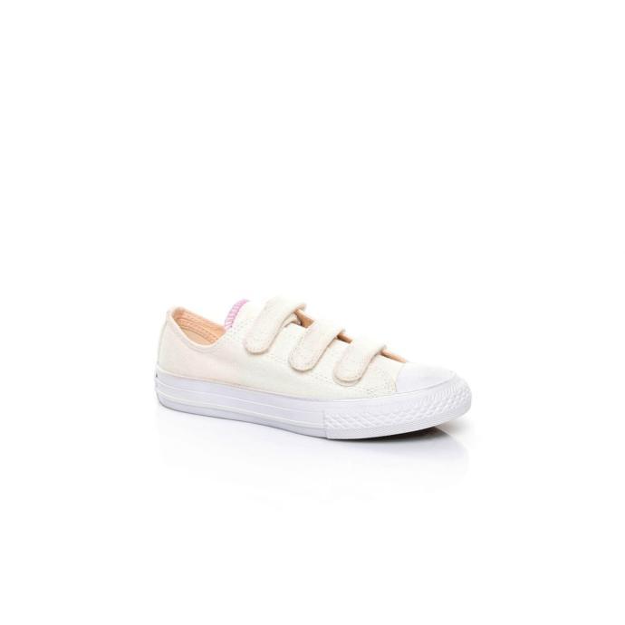 Beyaz çırçıtlı spor ayakkabı