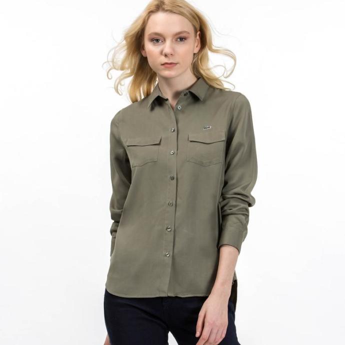 Tarz Duruşuyla Haki Yeşil Gömlek