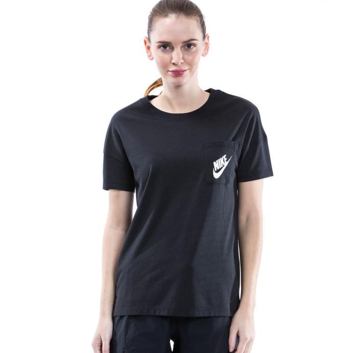 Kısa Kollu Geniş Siyah Nike Tişört