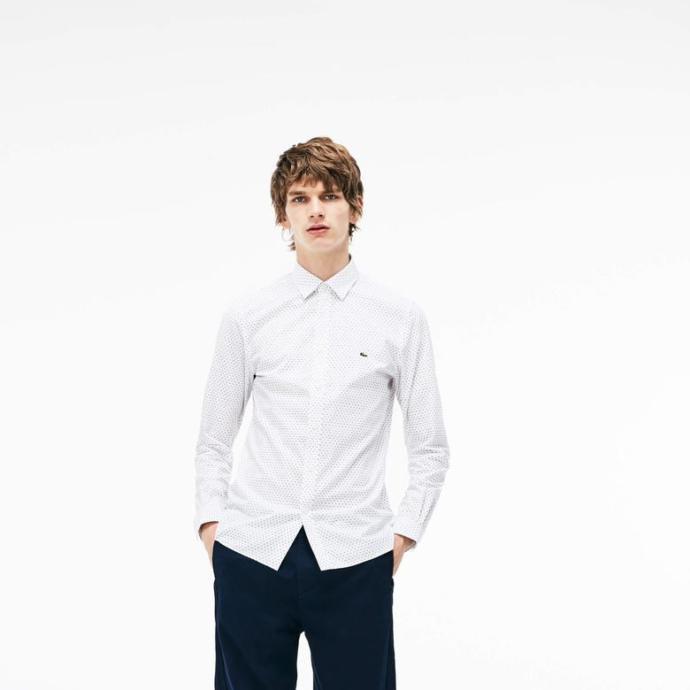 Lacoste beyaz gömlekler bir harika