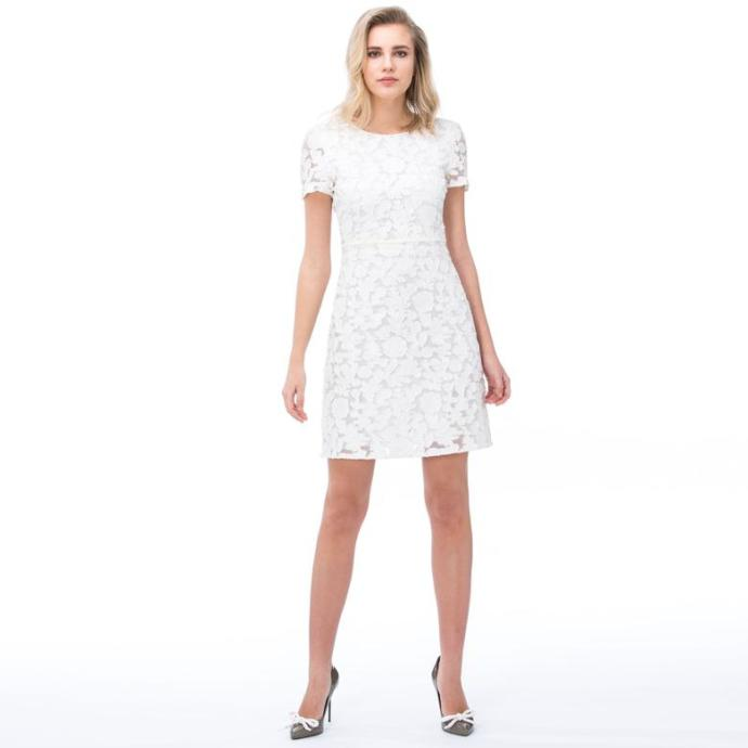 Burberry Kadın Beyaz Elbise