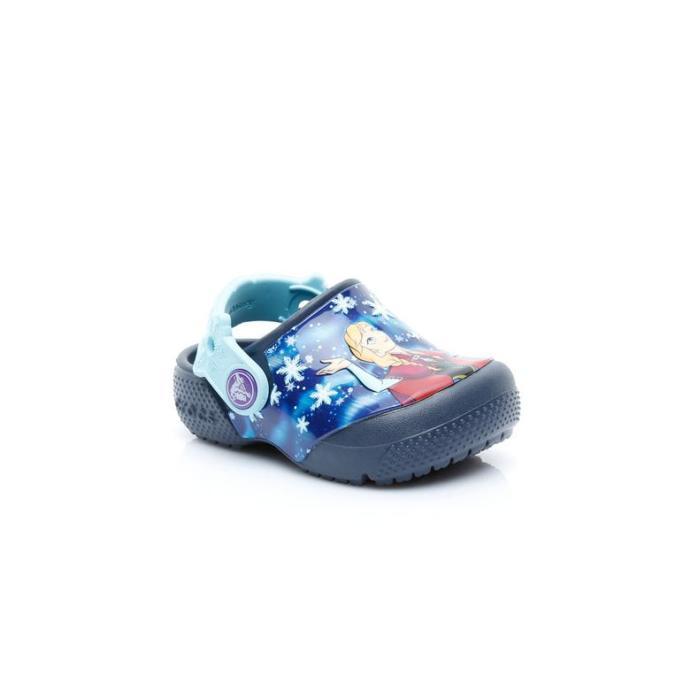 Elsa Baskılı Kız Mavi Sandalet