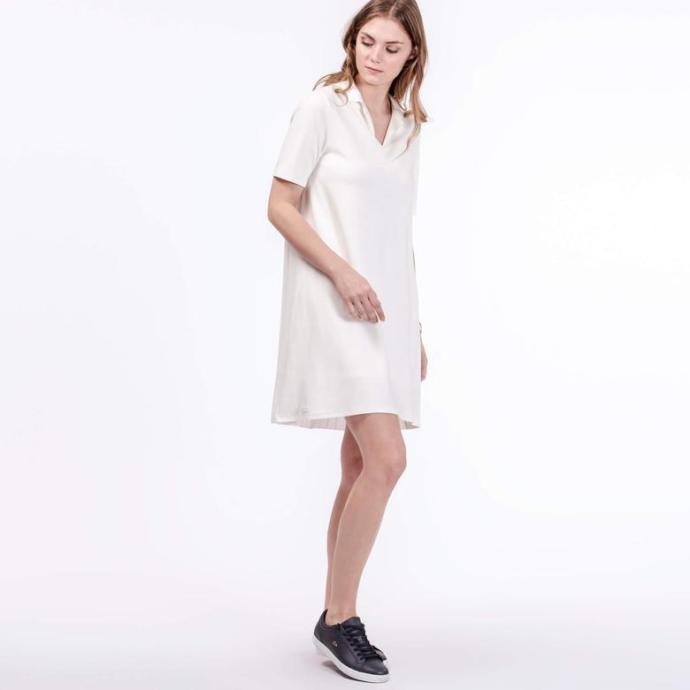 Lacoste Kadın Regular Fit Krem Elbise