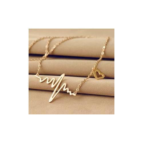 Kalp Ritim Model Takı Kolye Gümüş