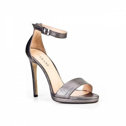 Cabani Topuklu Günlük Kadın Ayakkabı Füme Deri