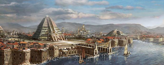 Bakınız piramitleriyle tipik bir Ghiscari şehri. İşbu şehir Meereen'dir.