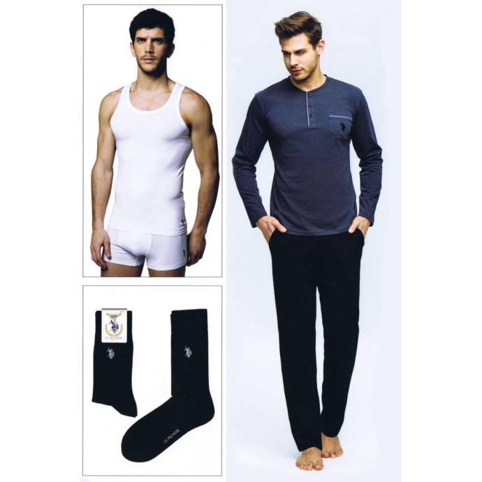 US Polo Erkek Damat Çeyiz Pijama Çamaşır Takım