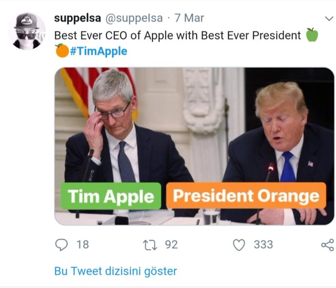 Trump Apple CEO'su Tim Cook'a