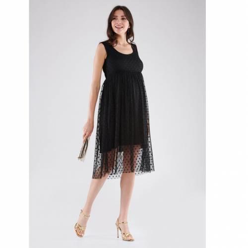 Siyah Puantiye Detaylı Elbise