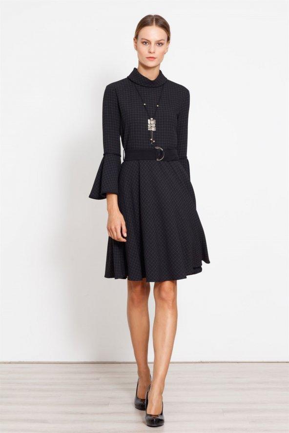Lemn Kısa Siyah Elbise