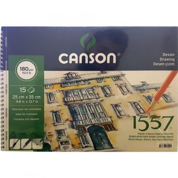 Canson 1557 Resim Ve Çizim Blok 180Gr 25X35 15 Yap. Resim Defteri