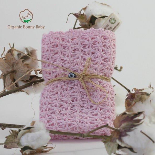 Organik  Bonny Baby El Yapımı Bebek Banyo Kesesi
