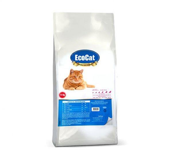 Eco Cat Tavuklu Yetişkin Kedi Maması- 15 kg.