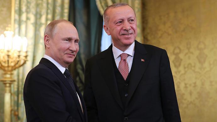 Cumhurbaşkanı Recep Tayyip Erdoğan Rusya'da
