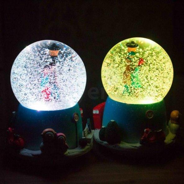 Kar Küresi Müzik Kutusu ve Gece Lambası