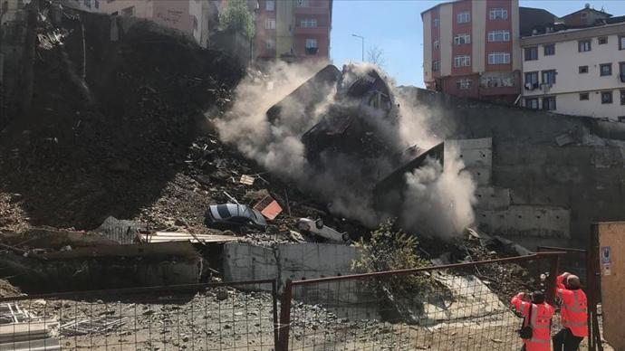 İstanbul Kağıthane'de 4 Katlı Bina Çöktü!