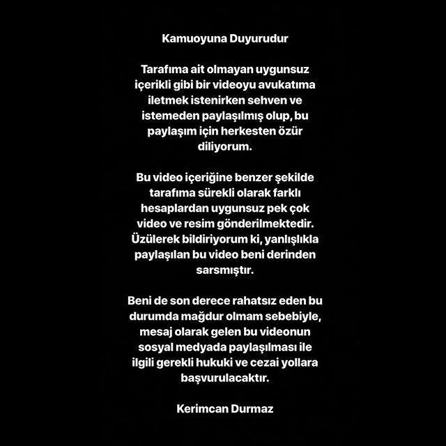 Kerimcan Durmaz'ın açıklaması