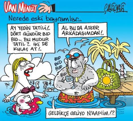 Tatil Meselesine Mizahi Yaklaşımlar, Tatil Karikatürleri