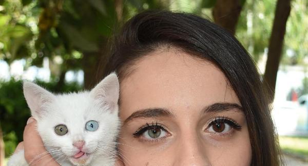 Kedisinin de Sahibinin de Gözleri Çift Renkli! (Simay Şen)