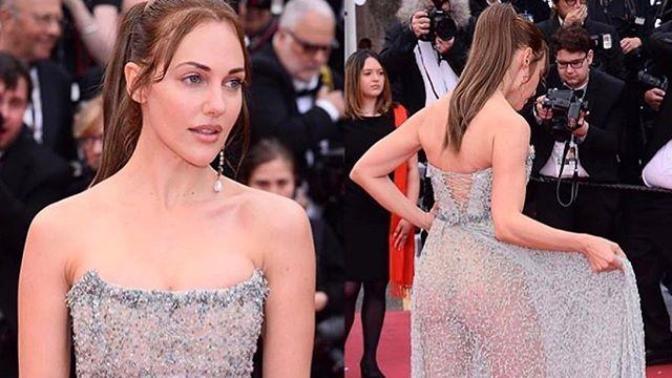 Meryem Uzerli'nin Cannes Film Festivali'ndeki Kıyafeti Gündem Oldu