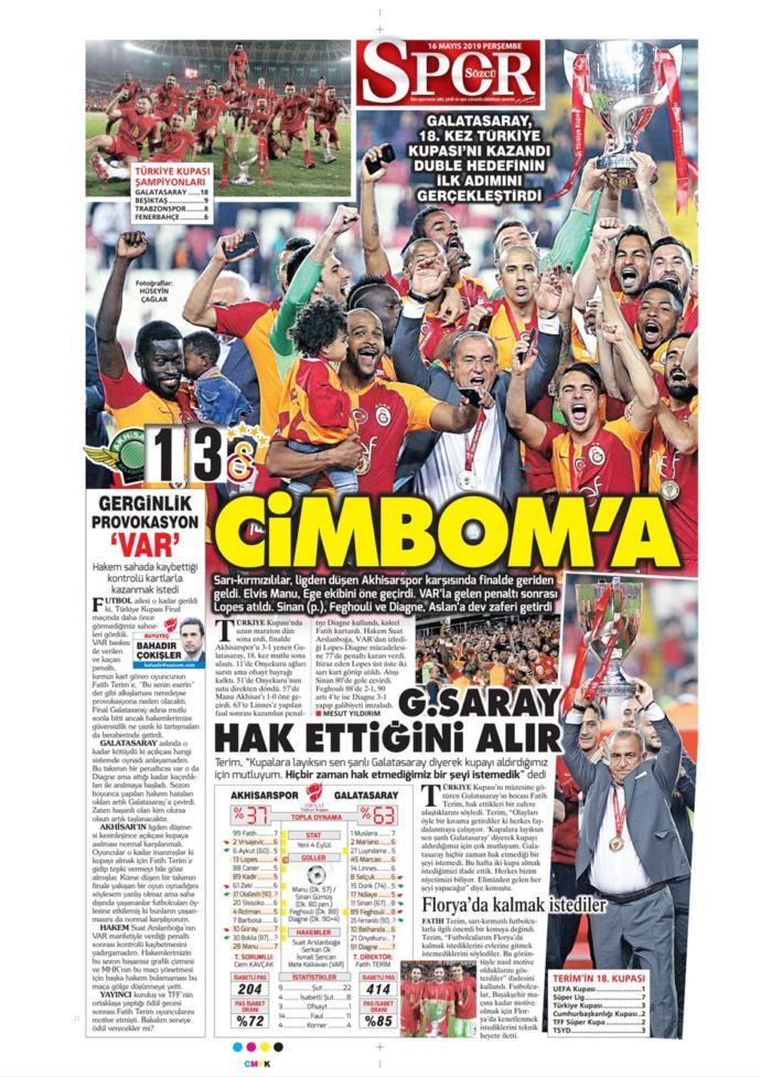 Türkiye Kupasını Müzesine Götüren Galatasaray'ın Zaferini Gazeteler Nasıl Gördü? (Manşetler)