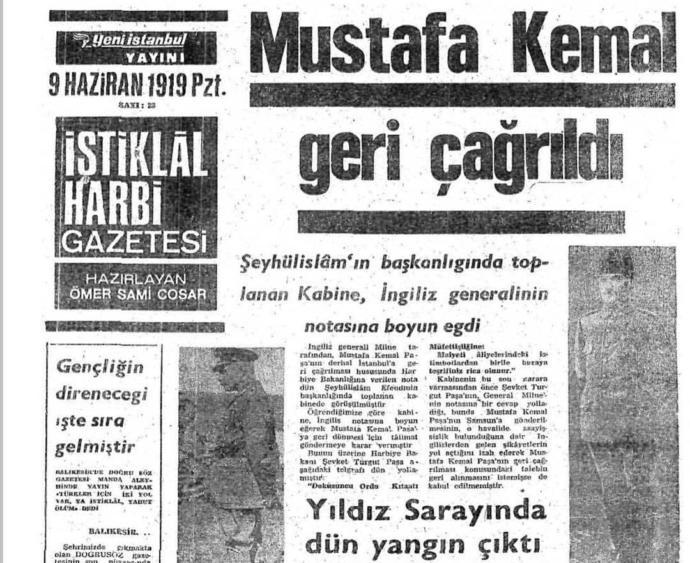 M. Kemâl Paşa, padişah hükümetinin isteklerini yerine getirmeyince General Milne'nin isteğiyle geri çağrıldı.