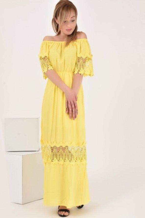 Kadın Kol Güpür Elbise