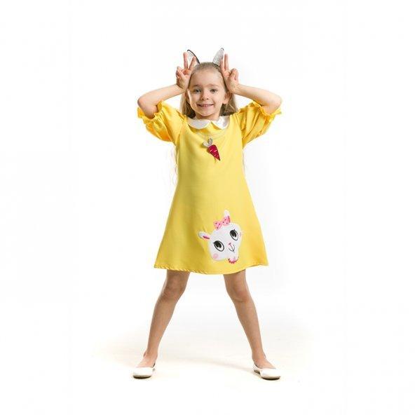 Denokids Mushi Mini Mini Tavşan Kız Çocuk Elbise