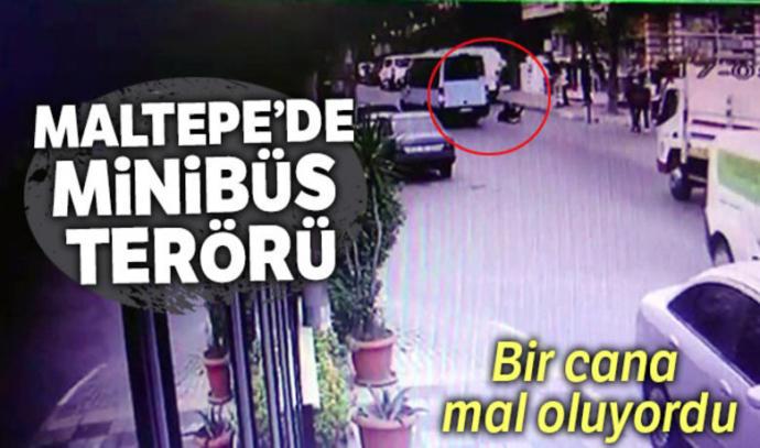 Maltepe'de İki Genç Kız Kapısı Açık Olan Minibüsten Yola Fırladı