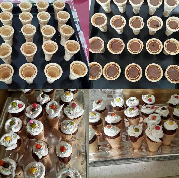 Değişiklik İsteyenlere: Dondurma Külahında Kek Tarifi