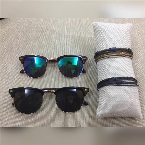 Clupmaster Modeli Güneş Gözlüğü +Bileklik Hediye