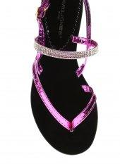 Kadın Parmak Arası Sandalet Fuşya Ayna - DAVID JONES