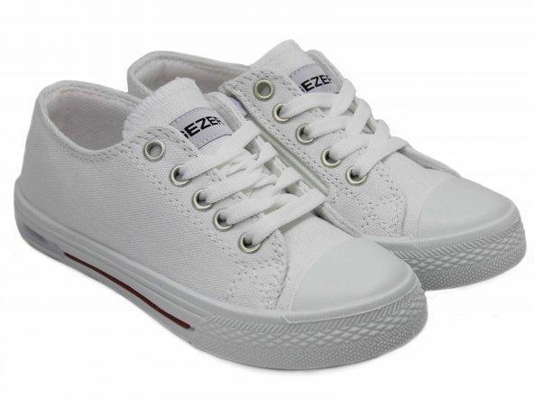 Çocuk Beyaz Spor Ayakkabı Keten Ayakkabı