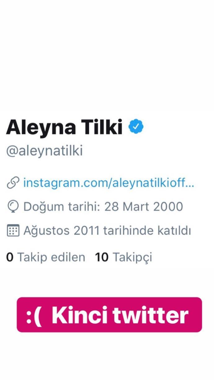 Aleyna Tilki Twitter'dan Twitter'a İsyan Etti