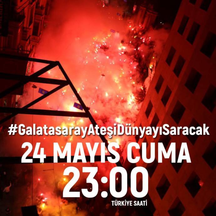 Galatasaraylılar Bu Cuma 23.00'te Tüm Dünyada Şampiyonluk Meşalelerini Yakacak