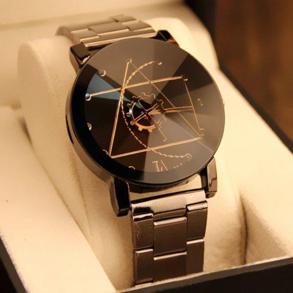 Sade ve Şık Tasarımlı Erkek Kol Saati + Bileklik Hediye