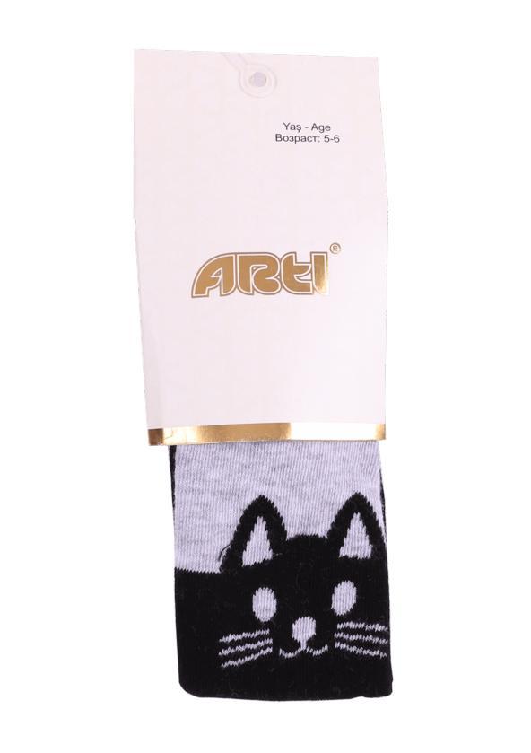 Kedi Desenli Külotlu Çorap