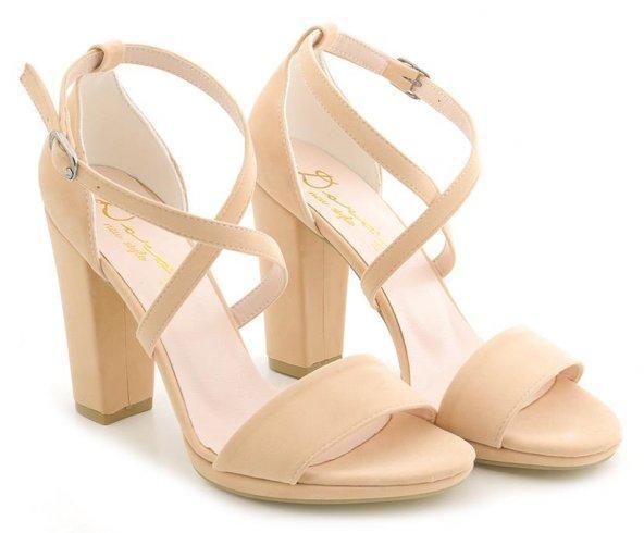 Pudra Pembe Orta Topuklu Ayakkabı