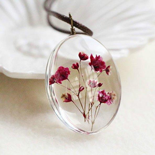 Çiçek Tasarım Kolye