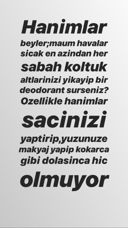 Pınar Altuğ'un Kötü Kokanlara Yaptığı Eleştiri