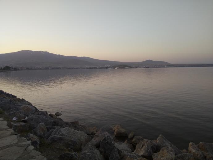 Van Gölü'nün Tatvan tarafı..