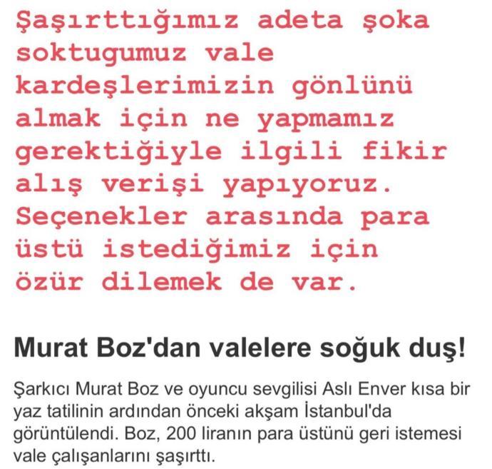 Murat Boz, Hakkında Yapılan 'Valelere Soğuk Duş' Haberini Tiye Aldı
