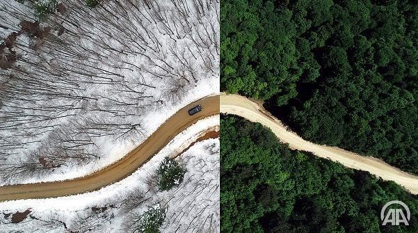 Kışla Yaz Aynı Karede (Foto Galeri)