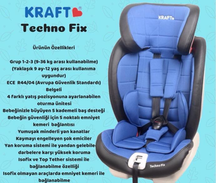 Kraft Techno Fix Çocuk Oto Koltuğunu Sizler İçin Değerlendiriyorum